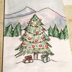 Christmas Tree Card by zukleton