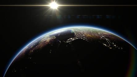 Earthrise Wallpaper by RushFreak2