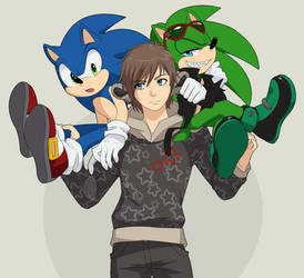 Allen Sonic and Scourge by M154R1