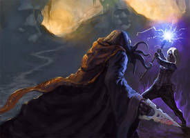 Drow vs. Mindflayer by noahbradley