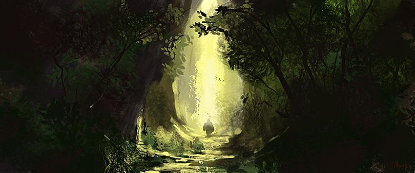 Walking down the path by noahbradley