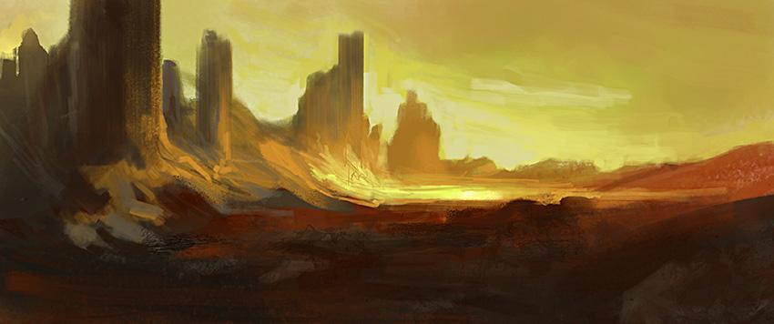 The Burning Desert by noahbradley