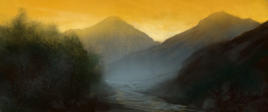 Misty Valley by noahbradley