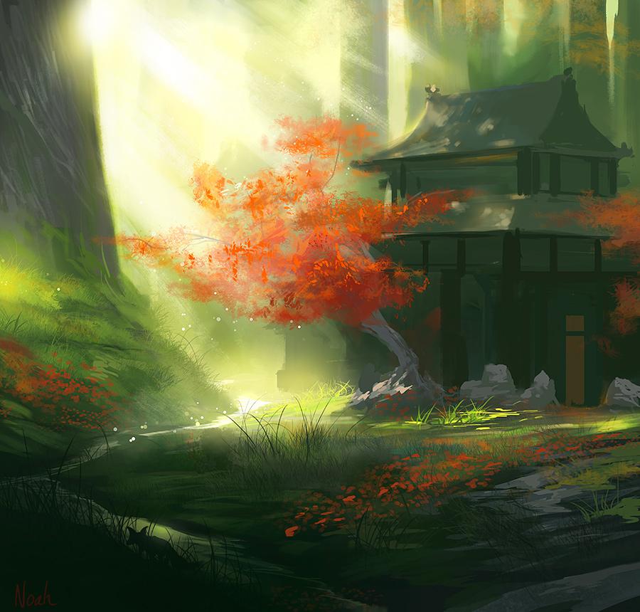 Kyuden Kitsune by noahbradley