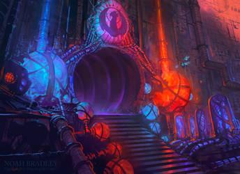 Izzet Guildgate by noahbradley