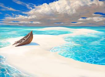 Lonely Sandbar by noahbradley