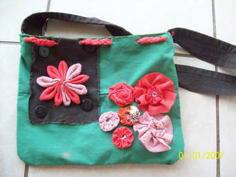 Recycled Handmade shoulder-bag by Jezelle89