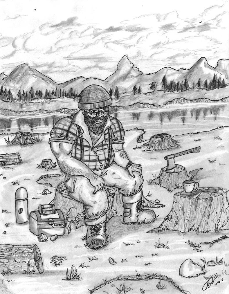 Woodsman Coffe Break by Floyduzumaki666