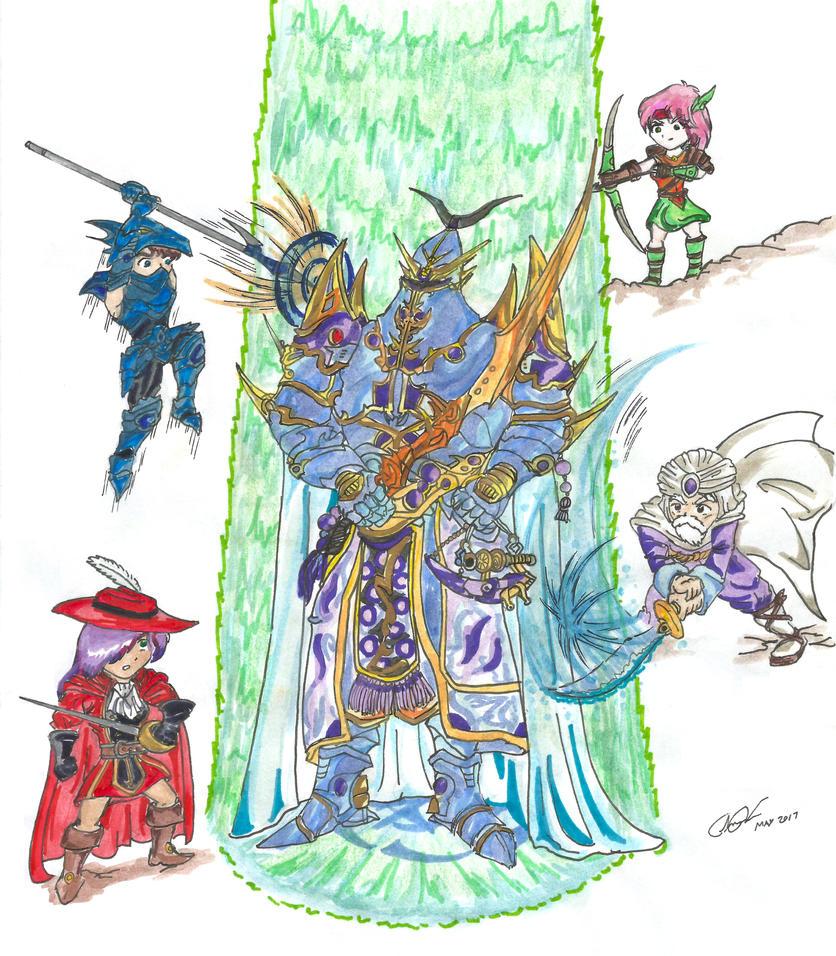 FFV battle by Floyduzumaki666