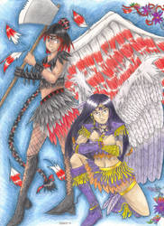 Sailor Seraphim and Sailor Dunamis for Meshia by Derrot