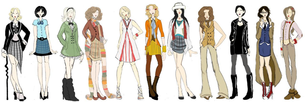 Gallifreyian Fashion Sketches By Ch4rms On Deviantart