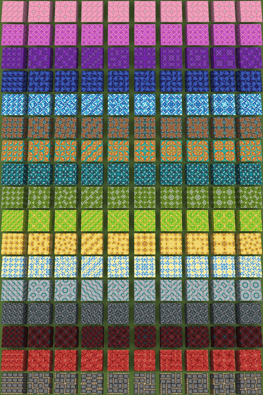 Minecraft 10 Glazed Terracotta Patterns By Zariem On Deviantart