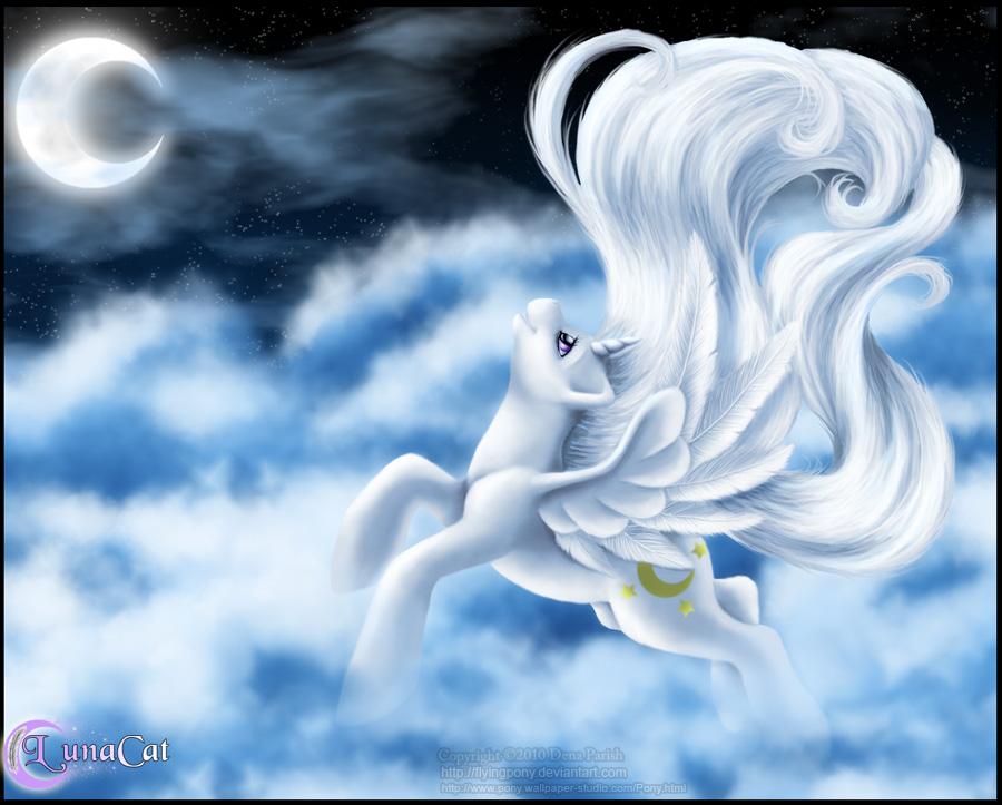 High Flying Luna by FlyingPony