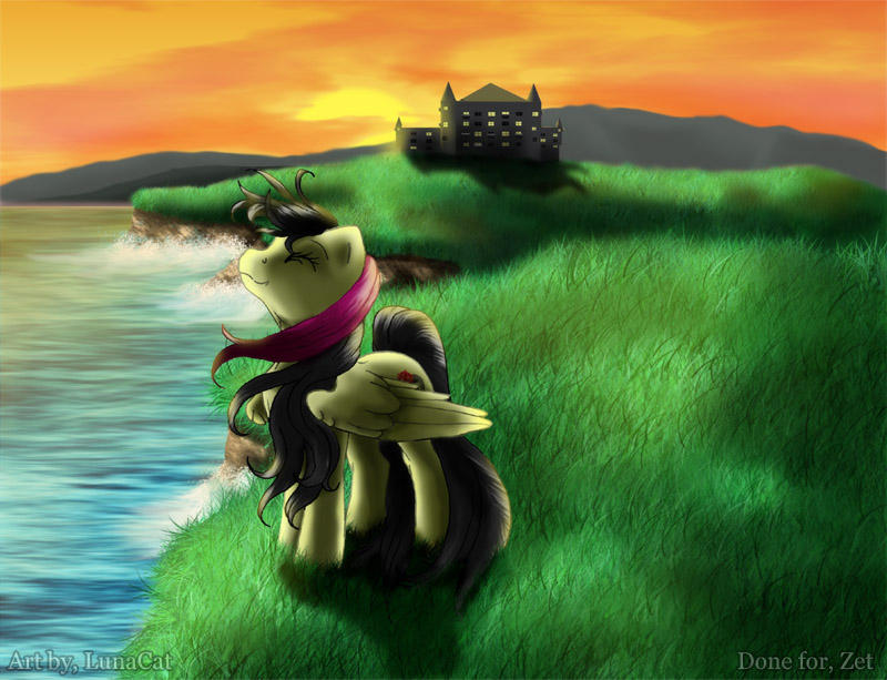 Castle by the ocean by FlyingPony