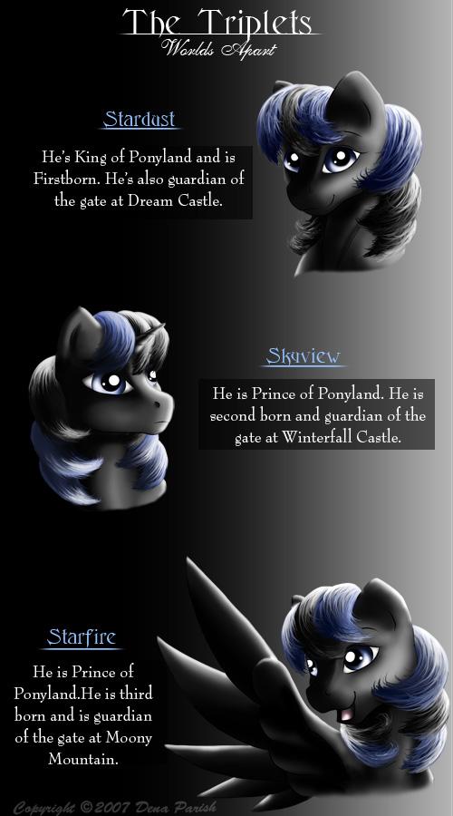 Triplets of Ponyland by FlyingPony
