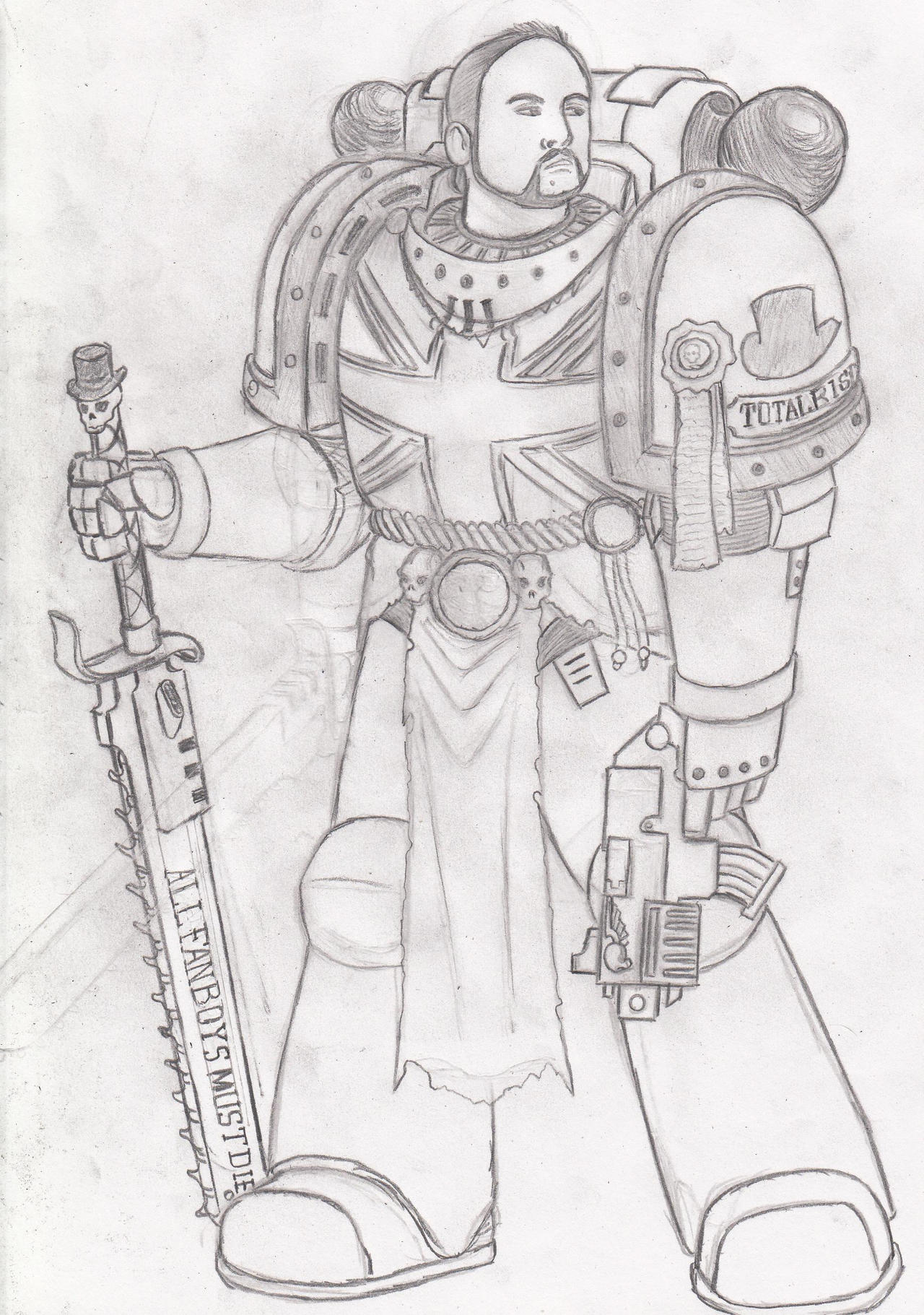 Spacemarine TotalBiscuit -work in progress- by SomethingIdontknow