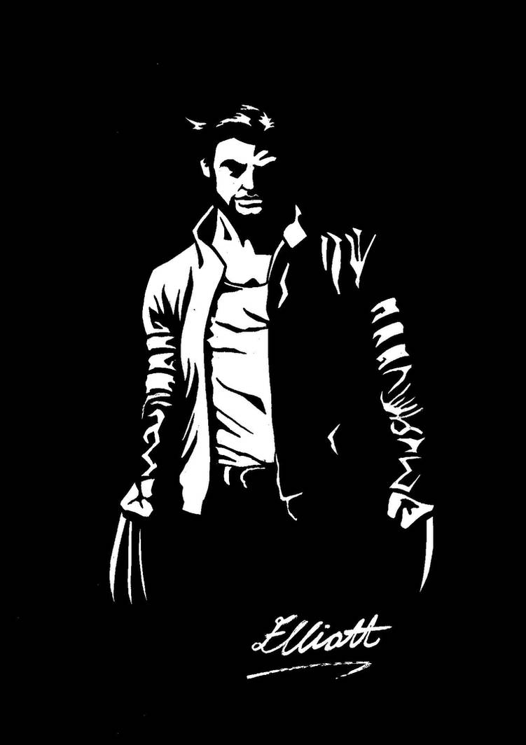 Wolverine: Black + White by Ell-Shmell