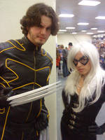 Wolverine + Black Cat - 2009 by Ell-Shmell