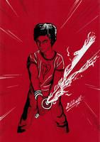 Scott Pilgrim - B+W+R by Ell-Shmell