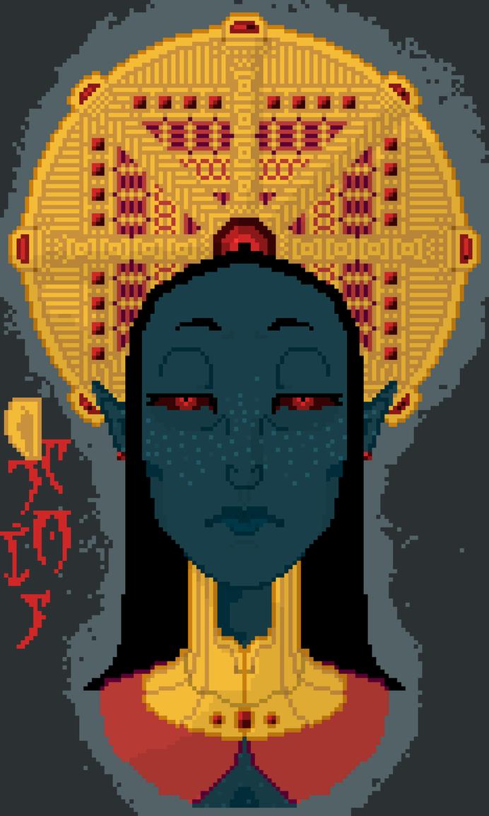 Great House Dagoth Pixel Art by blackcoldren