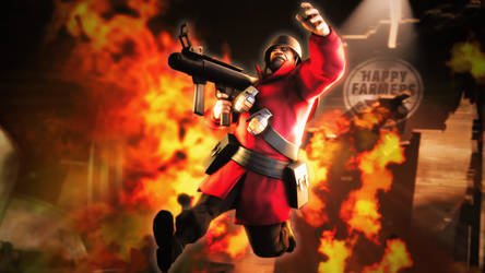 TF2 Soldier - Rocket Jump away