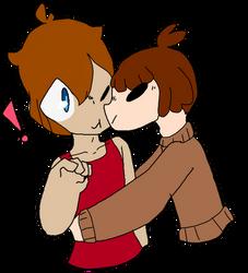 Surprise Kiss YCH - Eiji + William