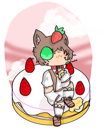 Om nom strawburb cake (3/3)