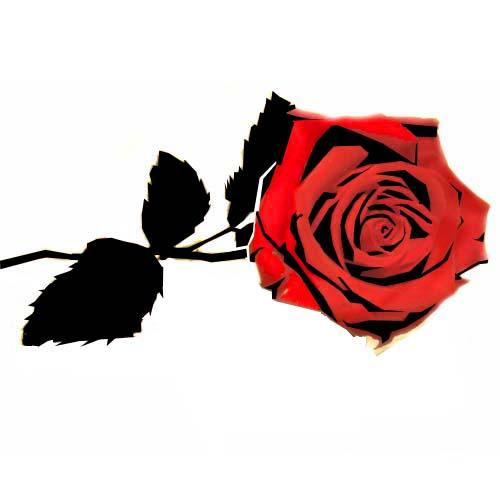 Rose Stencil Design By Blinding Sun On Deviantart