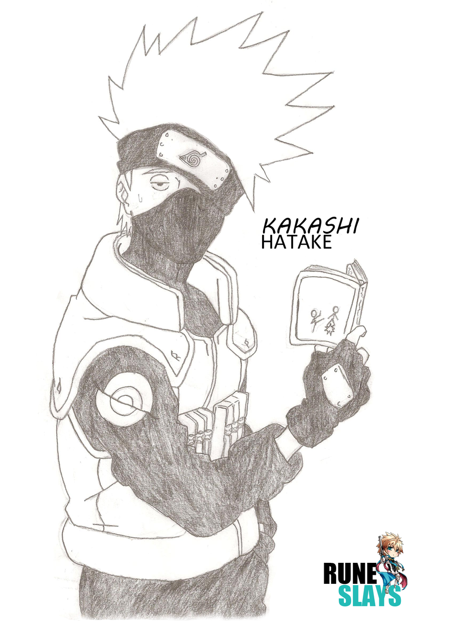 kakashi hatake drawing by runeslays kakashi hatake drawing by runeslays