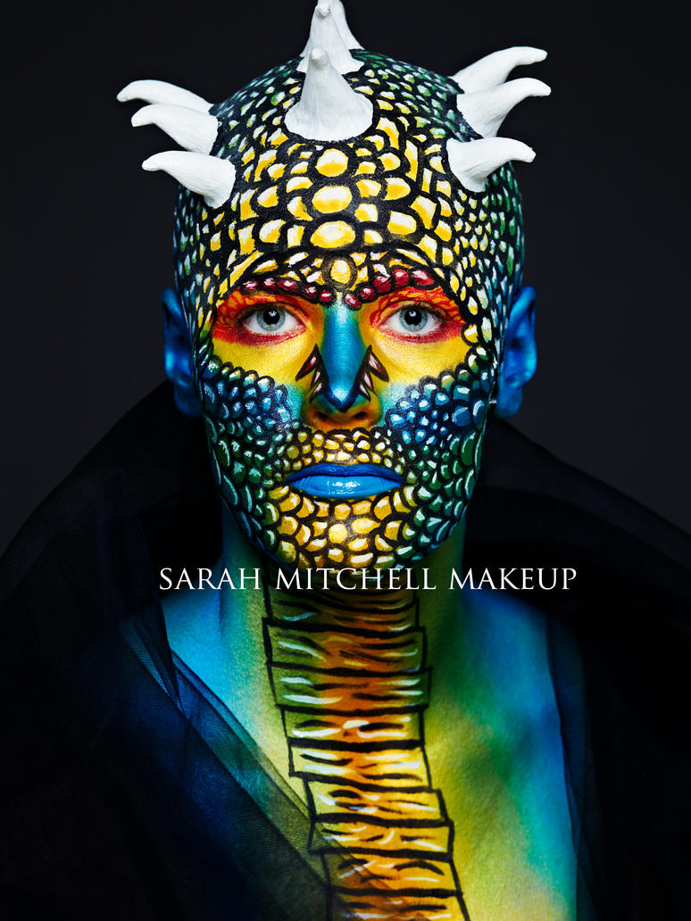 Theatrical Lizard by sarahmitchellmakeup