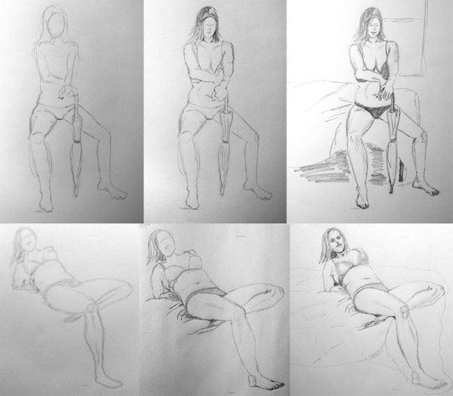 Step process drawing people by mkoster