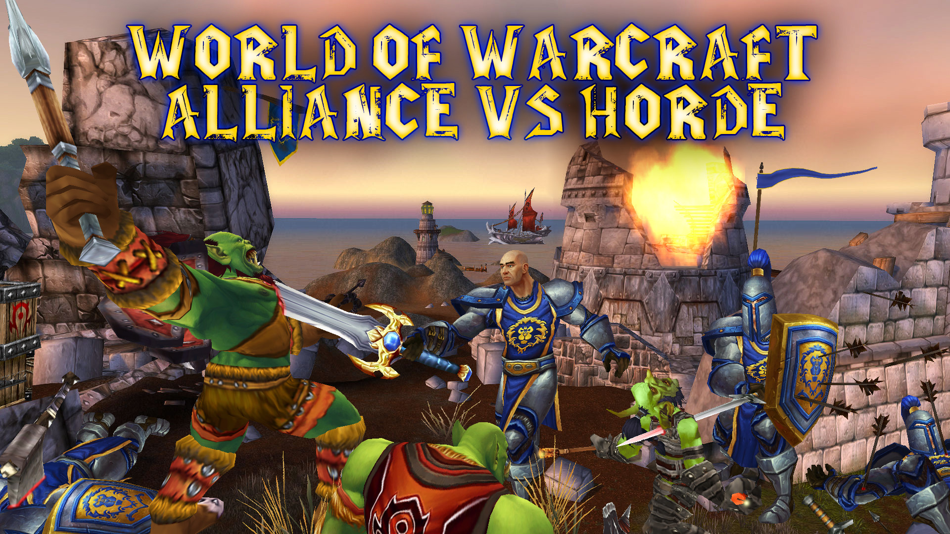 World Of Warcraft Wallpaper Alliance Vs Horde Perk By Percy1985 On