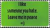Someone You Hate Stamp by Fuzzyfinx