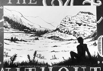 Inktober 2018 Day 2 - Tranquil by algy
