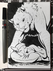 Inktober 2018 Day 6 - Drooling by algy