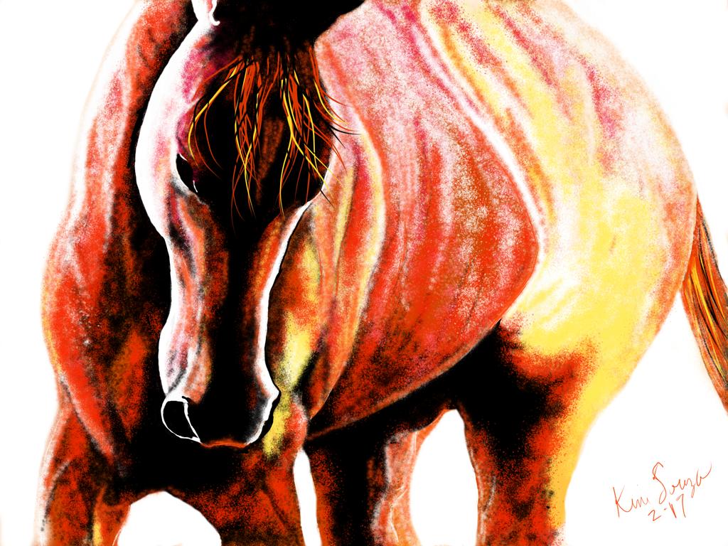 Orange-Horse by SquidVango
