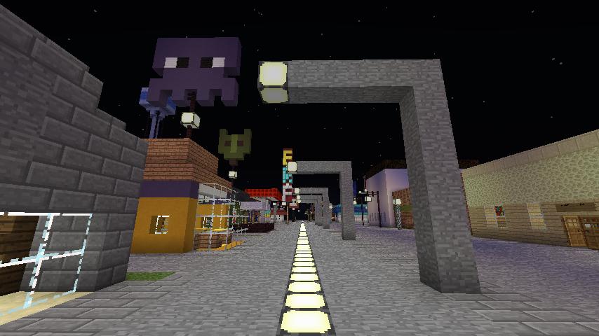 Minecraft Street by BowserHusky