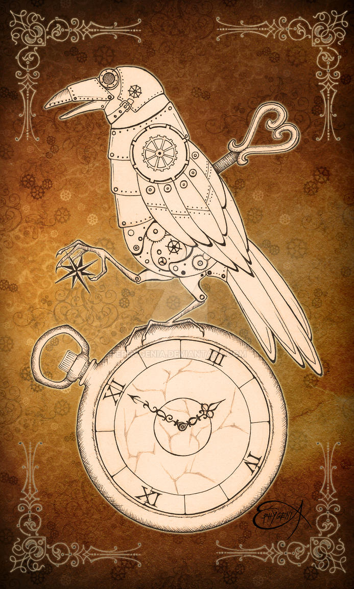 Steampunk Clockwork Raven by EpHyGeNiA