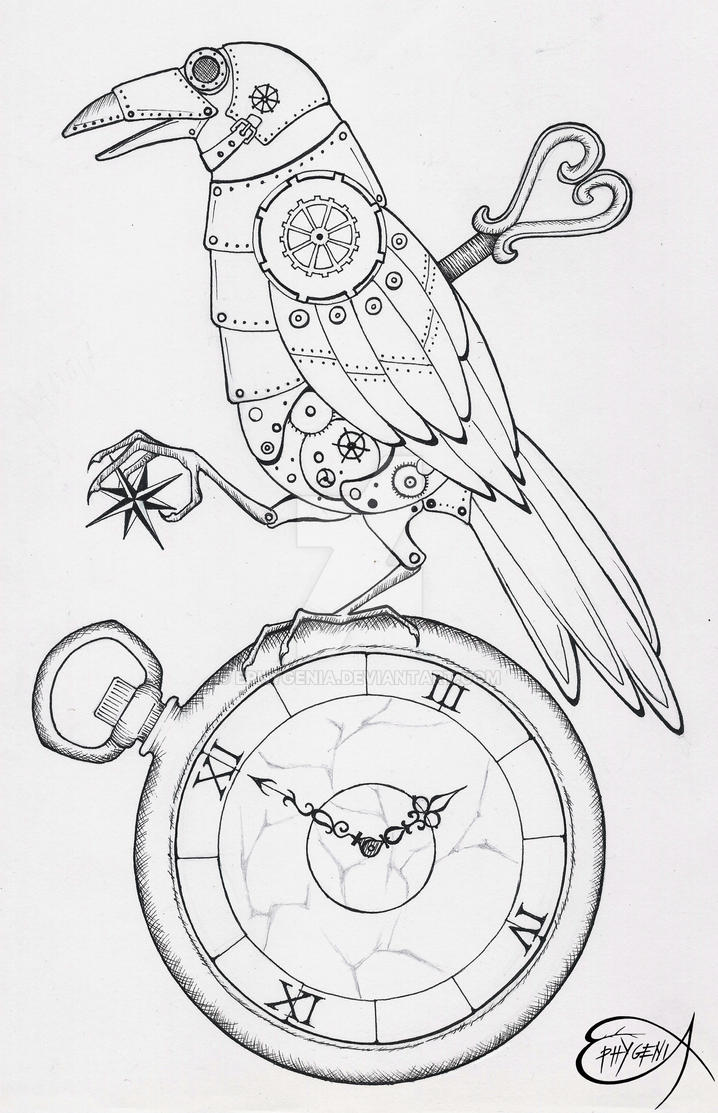 steampunk_clockwork_raven_wip_by_ephygenia d66r63u