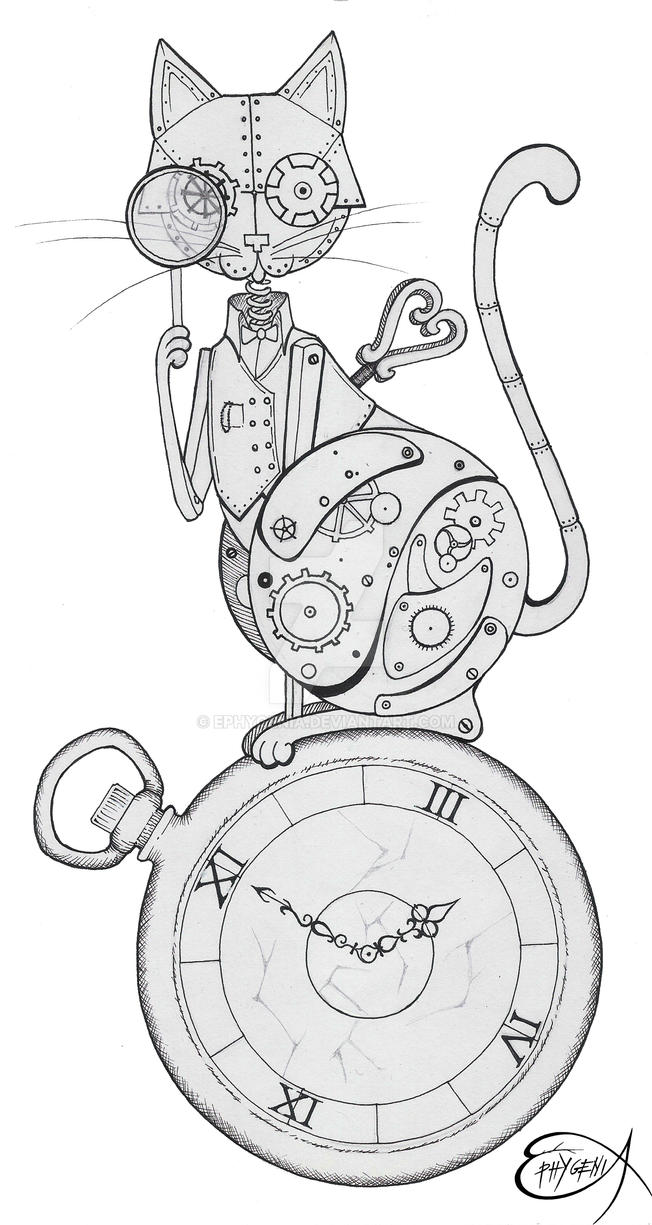 Steampunk Clockwork Cat WIP by EpHyGeNiA