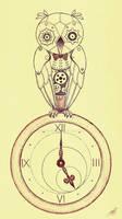 Clockwork Owl .. tea time!