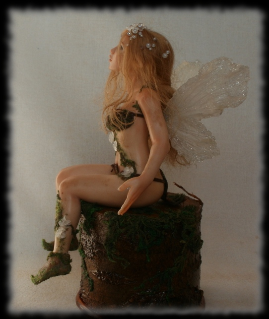 03 Spring Fairy sculpture ooak, 1 inch head by Rosen-Garden