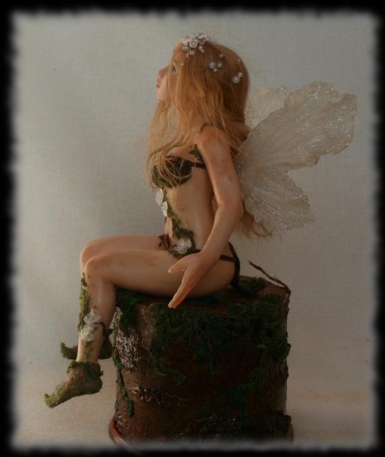 03 Spring Fairy sculpture ooak, 1 inch head by Rosen-Garden