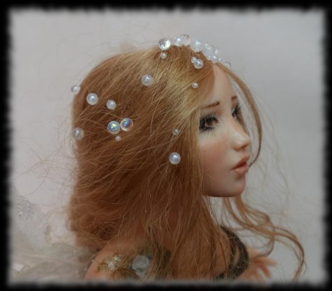 09 Spring Fairy sculpture ooak, 1 inch head by Rosen-Garden