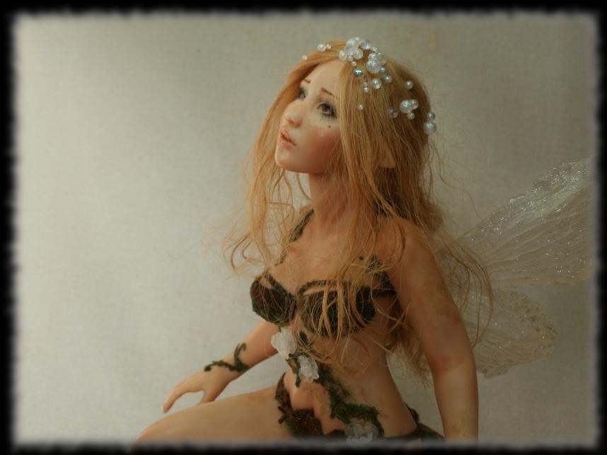 10 Spring Fairy sculpture ooak, 1 inch head by Rosen-Garden