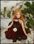 6.9 in Polymer BJD, Primrose Maiden: Black Cherry