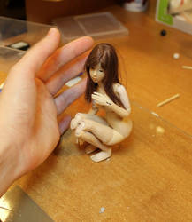 Mini Bjd Prototype - Posing with wig 01 by Rosen-Garden