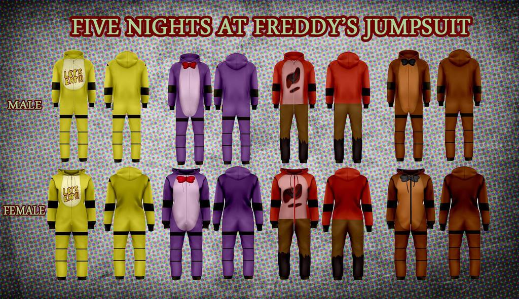 Fnaf jumpsuits pre order by mafer on deviantart