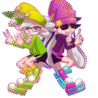 Splatoon - Agent 1 and 2 by Mafer
