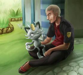 Pokemon - Nanu Meowth by Mafer